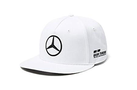 Amazon.com: Mercedes AMG F1 Team Driver Puma Hamilton Flat Peak Cap White Official 2018: Sports & Outdoors