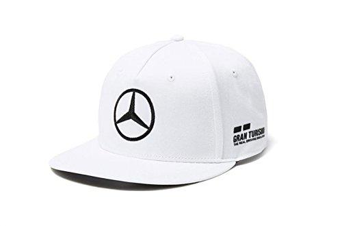 Mercedes AMG F1 Team Driver Puma Hamilton Flat Peak Cap White Official 2018
