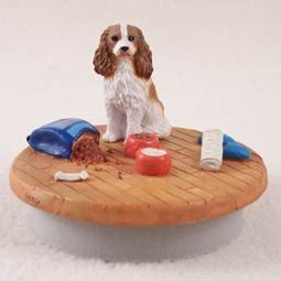 Conversation Concepts Miniature Cavalier King Charles Spaniel Brown & White Candle Topper Tiny One