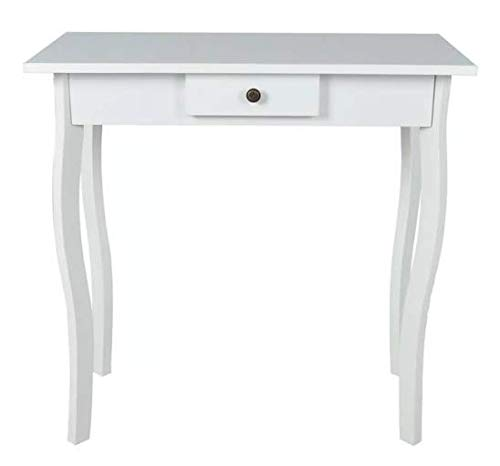 Console Table MDF White Stylish Excellent Highlight Bedroom Space MDF 29'' x 14'' x 29'' SKB Family