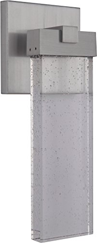 Craftmade Z1604-SA-LED Aria Crystal Outdoor LED Wall Sconce, Satin Aluminum 1-Light (6