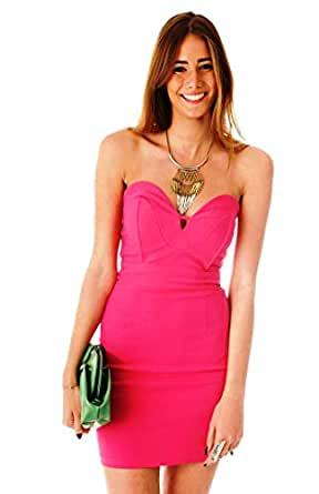 Hipster Cv1701f-l Body-con Dress For Women - L, Pink