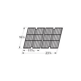 Music City Metals 64042 Matte Cast Iron Cooking Grid Replacement for Select BBQ Pro Gas Grill Models, Set of 2