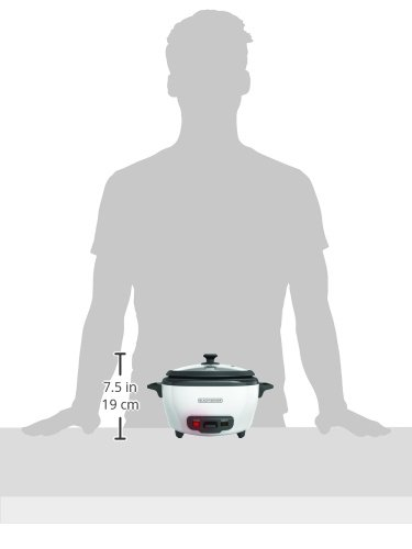 BLACK+DECKER RC506 6-Cup Cooked/3-Cup Uncooked Rice Cooker and Food Steamer, White by BLACK+DECKER (Image #11)