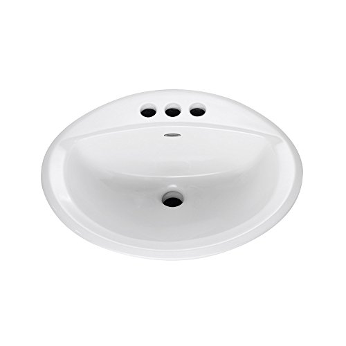 American Standard 0476.028.222 Aqualyn Self Rimming Countertop Sink With  4 Inch Centers And Tapered Edges, Linen   Bathroom Sinks   Amazon.com