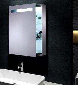Rmi Bypack Mona Mini Spiegelschrank Mit Led Beleuchtung Schiebetur
