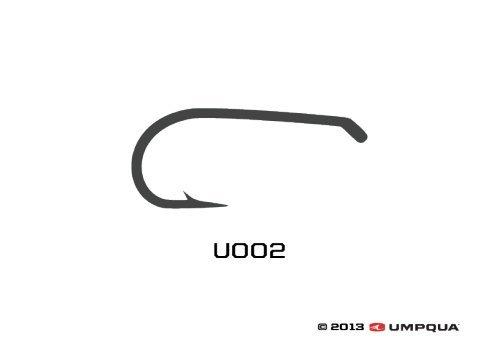 Umpqua Fly Tying Hooks U002 50Pk 10 Dry Fly Hook Standard Wire Down Eye - Fly Tying Hooks