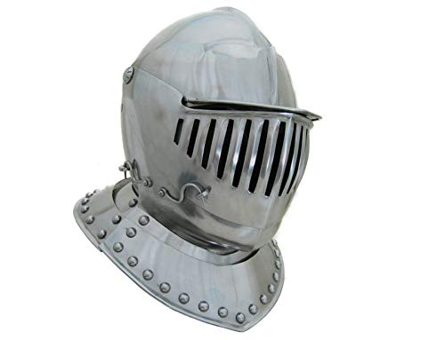 LM Handicrafts madieval Helmet 16th Century Close European Armour Barbute Roman