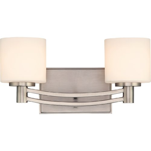 - Quoizel PY8602AN Perry 2-Light Bath Fixture, Antique Nickel