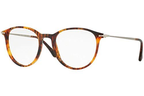 Persol PO3147V Eyeglasses 48-19-140 Light Havana w/Demo Clear Lens 108 PO3147-V PO 3147-V PO 3147V