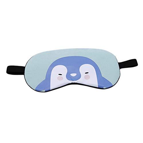 LZIYAN Cartoon Sleep Eye Mask Cute Animal Pattern Eye Mask Blindfold Eye Patch Sleeping Eyeshade Travel Shade Cover,Penguin by LZIYAN (Image #1)
