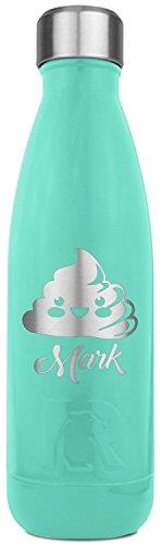 Poop Emoji RTIC Bottle - Teal - Engraved Front (Personalized)