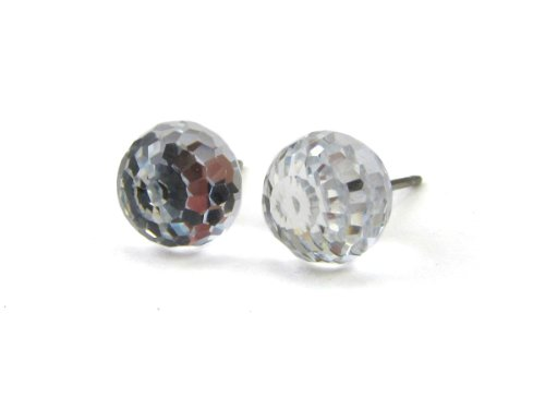 Comet Argent Light Faceted Ball Finest Austrian Crystal Stud Earrings, 8mm