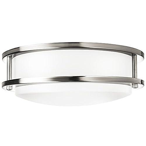 hyperikon led flush mount ceiling light 10 65w equivalent 1220lm 4000k daylight glow 120v 10 inch dimmable - Led Bathroom Ceiling Lights