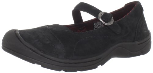 Keen Leather Mary Janes (KEEN Women's Sterling City MJ Shoe,Black,8 M US)