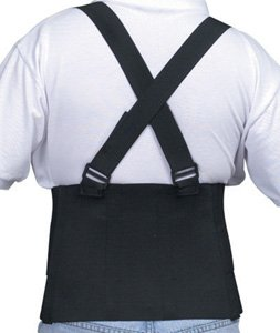 (Deluxe Industrial Lumbar Support w/ Shoulder Harness, Universal size)