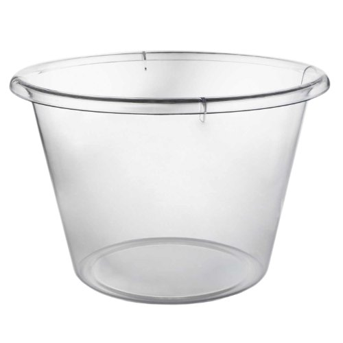 Party Essentials Plastic Extra-Large Ice Bucket, 10 qt Capacity, Clear (Case of -