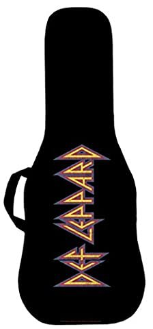 Official Def Leppard Classic Logo Electric Guitar Case. Printed panel is interchangeable (Acoustic Guitar Phitz)