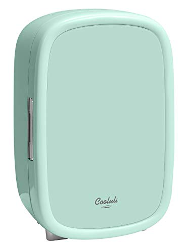 Cooluli Beauty Mint Green 12-liter Skincare Fridge for Makeup Storage, Esthetician Supplies, Skin care Tools, Cosmetics – Womens, Teens Cute Mini Beauty Fridge & Organizer