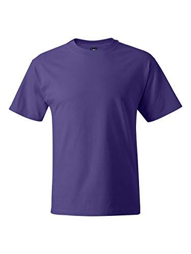 Hanes Men's Short Sleeve Crewneck Beefy T-Shirt, PURPLE, XXX-Large