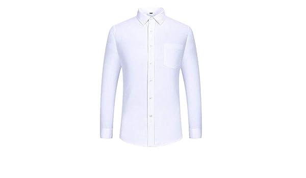 U/A Camisa blanca de manga larga para hombre de algodón para primavera y otoño: Amazon.es: Ropa y accesorios