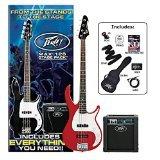 Peavey Electric Bass Guitar Pack (Peavey Red Guitar)