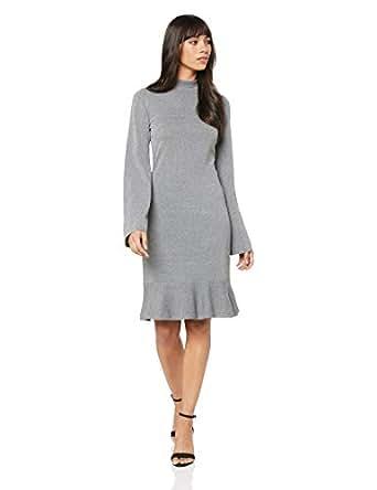 Cooper St Women's Charm Long Sleeve Knit Dress, Grey Marle, 10