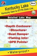 Kentucky Lake Fishing Map: Kentucky Dam to KY/TN State Line (Kentucky/Tennessee Fishing Map Series, L120)