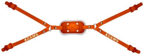 Adams USA 100-4D 4-Point High Hook Up Football Gel Chinstrap, Orange
