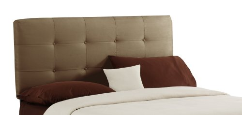 Skyline Furniture Surrey Full Micro-Suede-Upholstered Tufted Headboard, - Skyline Headboard Upholstered