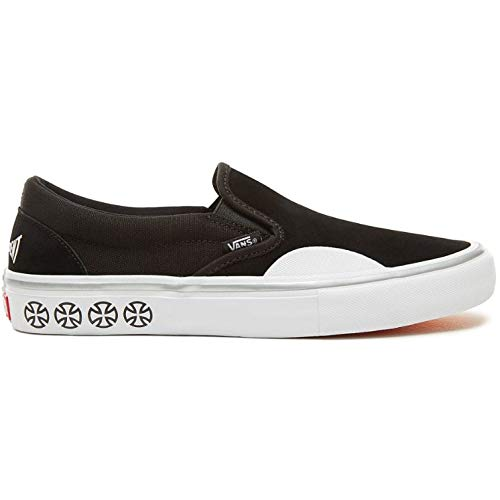 Vans x Independent Slip-On Pro Sneakers (Black/White) Mens Classic Skate - Skate Independent