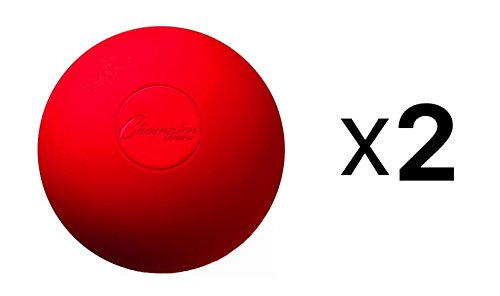 Champion Sports Lacrosse Balls (2-Pack) Red-Red