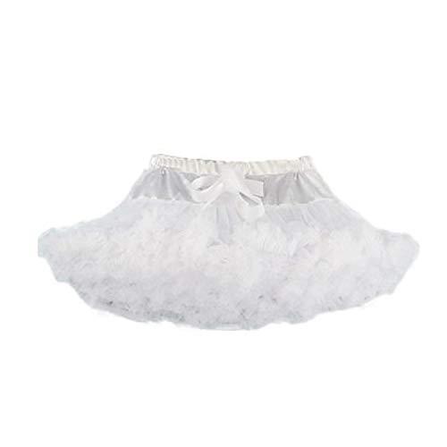 (Bettli Girls's Short Vintage Short Tulle Petticoat Skirts Tutu Ballet Bubble Tutu Underskirt (White Petticoat))