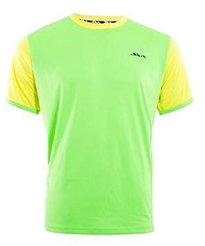 Siux Camiseta Hermes Verde Amarillo: Amazon.es: Deportes y aire libre