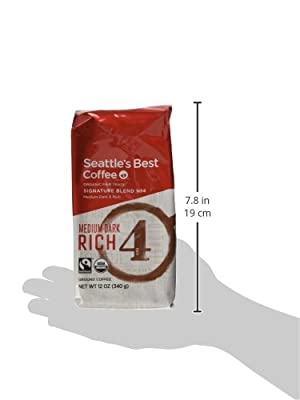 """Seattle's Best Level 4 Organic Fair Trade Ground Coffee, 12-Ounce Bags (Pack of 3)"""