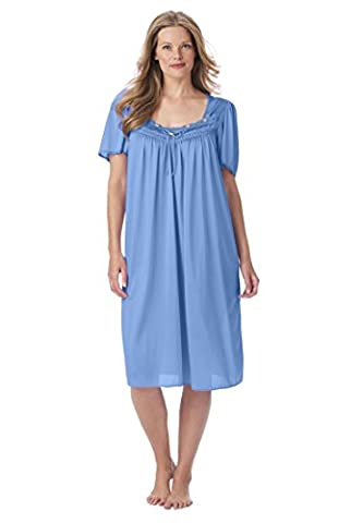 Only Necessities Women's Plus Size Full-Sweep Waltz Gown French Blue,L - Full Sweep Gown