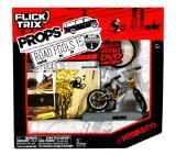 Spinmaster Flick Trix Fingerbike ''Real Bikes, Unreal Tricks'' BMX Bicycle Miniature Set - FITBIKE CO. with Display Base and DVD Props ''Road Fools 15'' by Spin Master