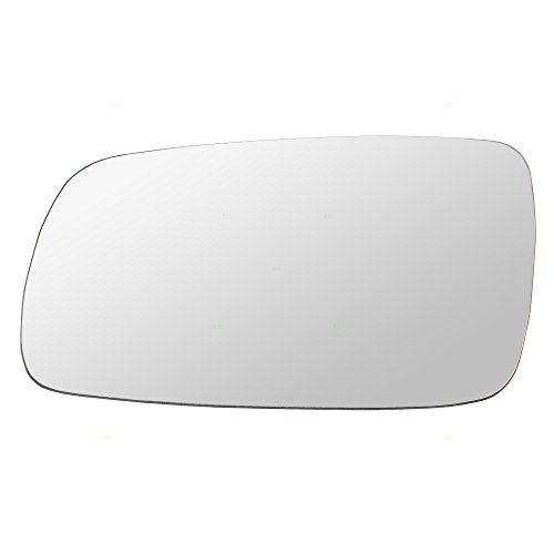 Drivers Side View Mirror Glass with Base Heated Replacement for Audi A4 Volkswagen Cabrio Golf Jetta Passat 3B1 857 521 A VW1324105 AutoAndArt