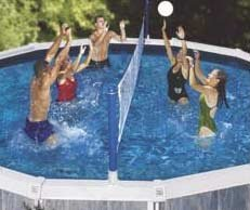 Swimline Cross Pool Volly Above ground Vollyball Game