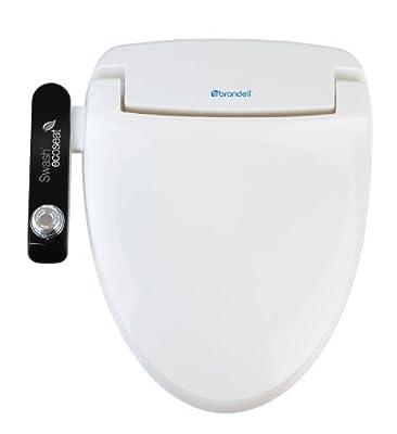 Brondell S100-EW Swash Ecoseat 100 Bidet Elongated Toilet Seat, White