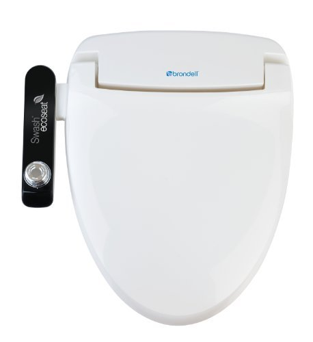 Brondell S100-EW Swash Ecoseat 100 Bidet Elongated Toilet Seat, White by Brondell