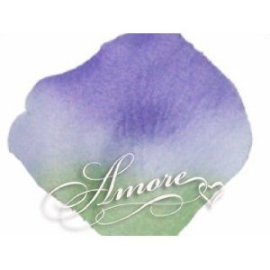 1000 Wedding Silk Rose Petals Vogue (Green and Lavender) 2 inch Wide - Vera Lavender Collection