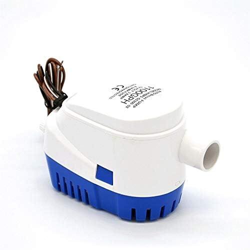 Haikellos DC12V / 24V 600/750 / 1100GPH Automatische Bilgenpumpe Tauchboot Wasserpumpe elektrisch mit Schwimmerschalter Marine Equipment Hauswasserpumpe (Color : 12v, Size : 600gph)