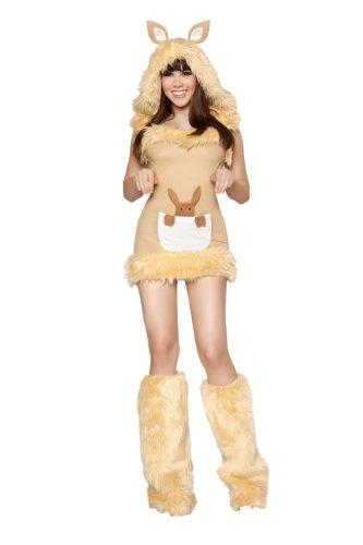 Roma Costume 1 Piece Kangaroo Cutie Costume, Camel, Large (Kangaroo Cutie Adult Costume)