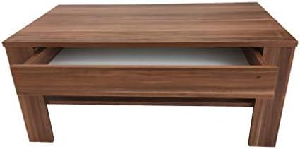Snelle Express Meubels SD salontafel met lade woonkamertafel koffietafel (EWA) notenhout u7Ph2ZB