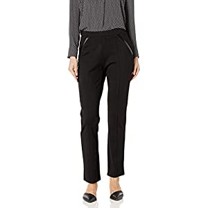 Rafaella Women's Ponte Comfort Fit Slim Leg Pants