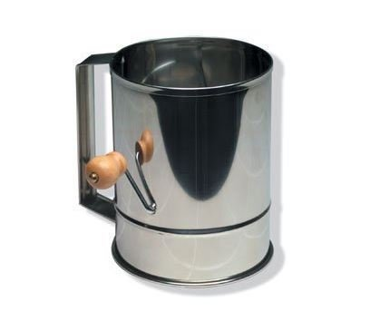 Stainless Steel Flour Sifter with Crank 5 Cup