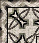 "Casa Contemporary Rug - Contemporary Geometric Marble Mosaic Corner [4 Pcs. per Case] (6""x6"")"