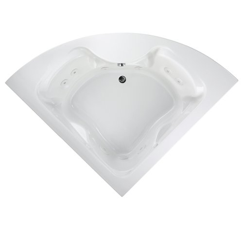 American Standard 2775018WC.020 Cadet 5-Feet by 5-Feet Corner Whirlpool with Everclean and Hydro Massage System-I, White