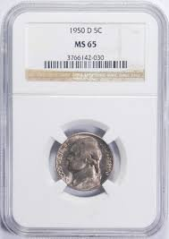 1950 D Jefferson Nickel NGC MS65 (Ngc Nickel Jefferson Mint)